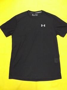 ●アンダーアーマー ヒートギア Tシャツ 半袖 SM ブラック スレッドボーンストリーカーショートスリーブ 1271823
