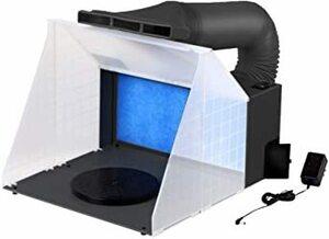 Ausuc スプレーブースセット エアーブラシシステム スプレーワーク ペインティングブース エアブラシ用 排気ダクト付き塗装ブ