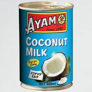 新品 好評 ココナッツミルク AYAM(アヤム) K-4Y 1 個 400ml (添加物不使用 ハラル認証取得) ココナッツ