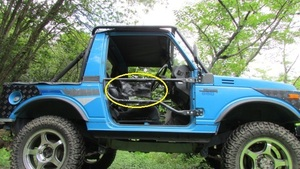 ** Jimny sj30,ja11 series Rock Crawling pipe door type 1 exclusive use [ fashion cover camouflage BK]