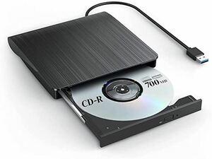 外付けDVDドライブ USB3.0 DVD CD-RW DVDプレイヤー DVD±RW ポータブル USB Window 薄型