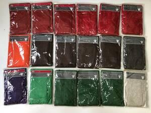 ④B5新品◆UNIQLO ユニクロ◆まとめて Color T-Shirt カラー Tシャツ Vネック クルーネック 半袖 メンズ Mサイズ 赤/橙/茶/緑/紫/淡黒