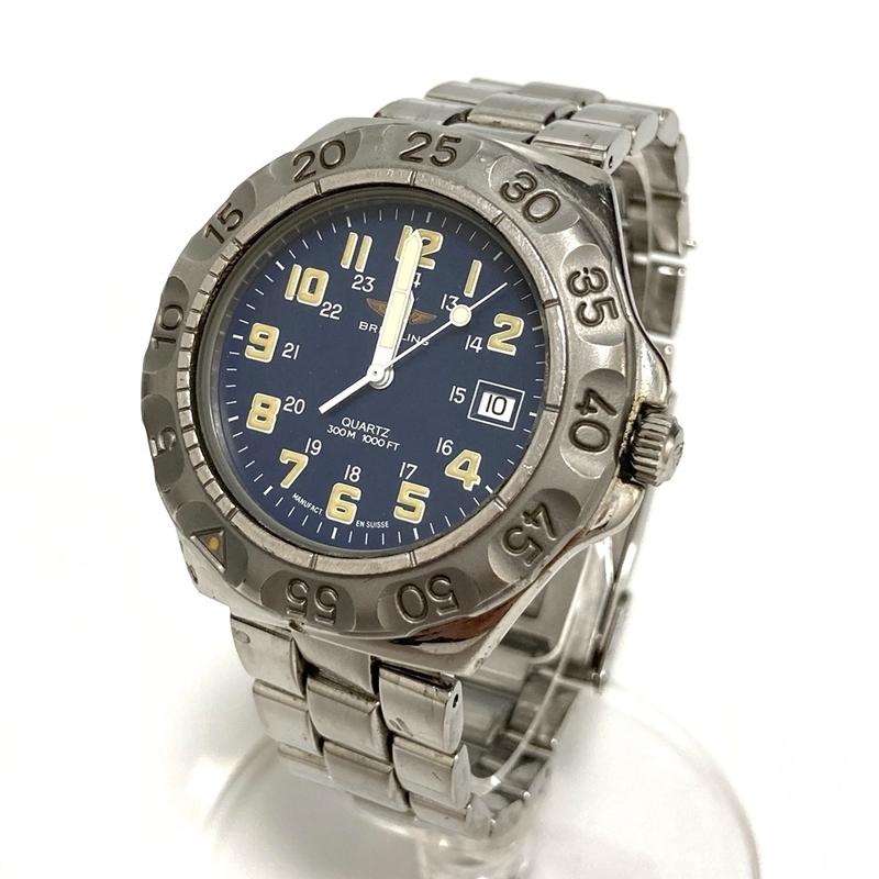 ブライトリング【BREITLING】コルト デイト M50096 クォーツ メンズ 腕時計 不動品 中古【かんてい局亀有店】9122