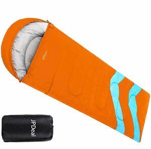 寝袋 封筒型 軽量 保温 210T防水シュラフ コンパクト アウトドア キャンプ 登山 車中泊 防災用 丸洗い