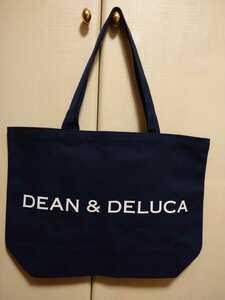 正規店購入 DEAN&DELUCA チャリティー トートバッグ L ディーン&デルーカ ディーンアンドデルーカ ネイビー 貴重