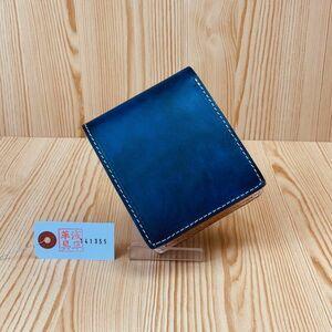 【浅草革具】イタリアンレザー メンズ 財布 長財布 二つ折り財布 牛革 ヌメ革 1円 ハンドメイド  コインケース カード入れ (0)