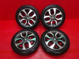 スズキ ソリオ バンディット純正15インチホイール 4本 5J +45 4H 100 DUNLOP WINTER MAXX 165/60R15 ハスラー Kei 軽 スタッドレスタイヤ