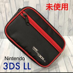 New ニンテンドー3DS LL 収納ポーチ レッド★未使用★