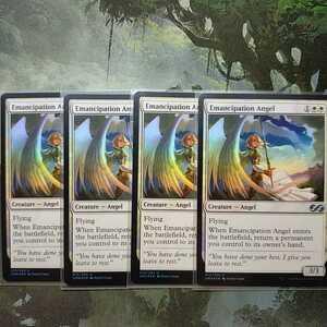 MTG 英語版 解放の天使 foil 4枚セット