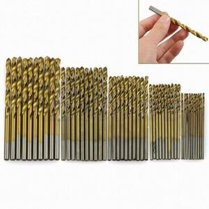 新品◆ドリル刃 50本セット 1~3mm 各10本 HSS鋼 チタンコート