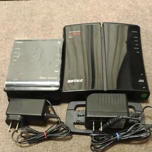 BUFFALO WZR-HP-AG300HとNEC aterm wg1200hs 無線LAN親機