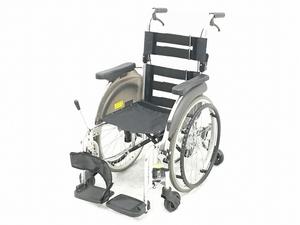MiKi SKT-5 介助式 自走型 車いす 6輪車 コンパクト スキット 室内用 ミキ 中古 楽直O5952228