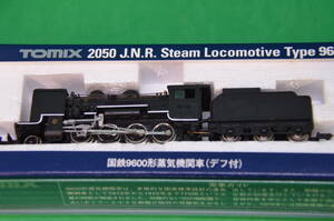 ★ TOMIX 2050 国鉄9600形蒸気機関車(デフ付)走行・ライト点灯確認済 美品 ★