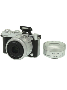 美品 【Nikon】ニコン『Nikon 1 J5 ダブルレンズキット シルバー』2081万画素 CXフォーマット ミラーレス一眼カメラ 1週間保証