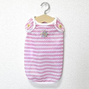Coo Couture クークチュール クールクール ボーダータンクトップ マリンデザイン ピンク M 小型犬 チワワ トイプー パピー