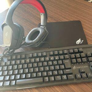 ケイアン KEIANヘッドホン キーボードセット 箱なしマウスなし ゲーミングKeyboard