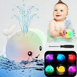 新品 好評 お風呂 ウンチョン D-ZK (噴水玩具だけ, 白クジラ) おもちゃ 子供 水遊び 自動噴水 音楽 ピカピカ LEDライト プ-ル 2イン1