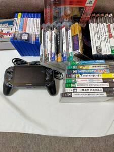 送料無料 美品 PCH-1100 PSVITA クリスタル・ブラック 3G/Wi-Fiモデル メモリーカード8GB VITA PS2 PS3 PSP SS SFC 全36本セット