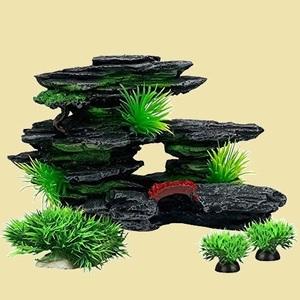 ラスト1点 新品 オブジェ アクアリウム P-69 穴の築山 (D-セット) オ-ナメント アクセサリ- 観賞魚/熱帯魚/金魚/爬虫類 隠れ家