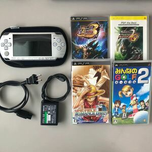 PSP PlayStationPortable 2000本体 付属品 ソフト4本