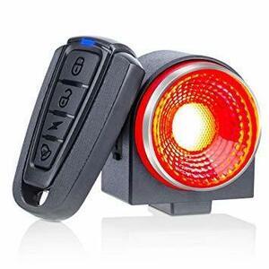 新品 ブラック 自転車 スマートテールライト 盗難防止アラーム バイク 振動センサー セキュリティアライト ブレーキEEK1