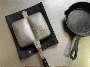 ホットサンドメーカーケース(黒) ホットサンドメーカー ケース カバー 鍋敷き アウトドア キャンプ キッチン 帆布