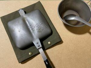 ホットサンドメーカーケース(カーキ) ホットサンドメーカー ケース カバー 鍋敷き アウトドア キャンプ キッチン 帆布