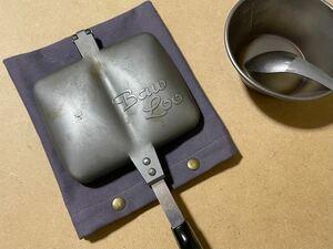 ホットサンドメーカーケース(グレーパープル) ホットサンドメーカー ケース カバー 鍋敷き アウトドア キャンプ キッチン 帆布