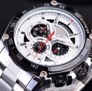 新品高級★男性腕時計 43mm 機械式 自動巻き 多機能 カレンダー 曜日表示 メンズウォッチ ステンレス 夜光 防水 カジュアル S/W ◇
