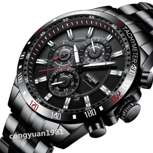 ★上質新品★高級男性腕時計 45mm 機械式自動巻 カレンダー 曜日表示 メンズウォッチ 多機能 ステンレス 夜光 防水 紳士 ビジネス◇