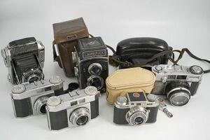 M1030【ヴィンテージカメラ】二眼レフ/レンジファインダーカメラなど 6台まとめて