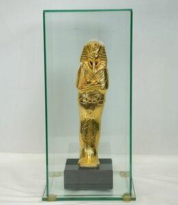 M1033【精巧複製像】エジプト ファラオ ツタンカーメンの棺 像 ガラスケース入り