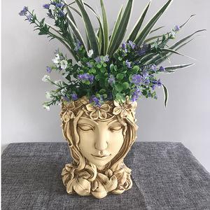 CHQ1258#女神様 樹脂 工芸品 ギフト 置物 北欧 装飾品 美術品 花瓶 プレゼント 創意 雑貨 生活 日常 インテリア 観賞 2色選択可