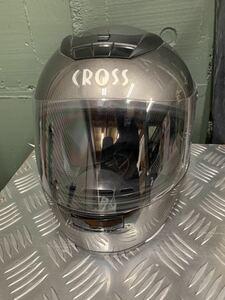 CROSS CR-715 フルフェイスヘルメット シルバー バイク ヘルメット