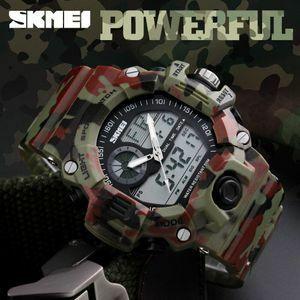 Skmei S ショックメンズスポーツ腕時計水泳ダイビング LED デジタル軍事腕時計ファッションアウトドア腕時計防水レロジオ Masculino