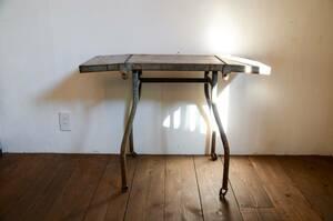 インダストリアル アイアン バタフライテーブル 作業台 ヴィンテージ 工業 サイドテーブル 店舗什器 インテリア