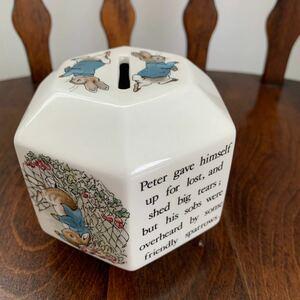 ウェッジウッド ピーターラビット 貯金箱 PETER RABBIT 旧刻印 イギリス製