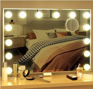 化粧鏡 女優ミラー 壁掛け 卓上 ハリウッドミラー 調節 LED 10倍拡大
