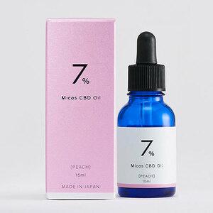 Micos(ミコス) CBDオイル 7%【CBD oil】ピーチフレーバー(15ml)【送料無料】
