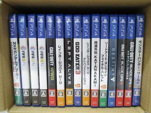 G1022-11Y/ PS4ソフト ダブリなし 15本 Newガンダムブレイカー ソードアート FIFA モンハン コールオブデューティ 侍道外伝 ゴッドイーター