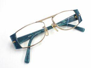 ▲眼鏡14 Sillrouette シルエット メガネフレーム▲オーストリア製/(M6084/21)/51□16-140/ターコイズ/ビンテ-ジ/消費税0円
