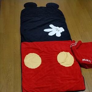 ミッキーマウス 寝袋 うたた寝クッション用? ディズニー