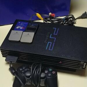 PlayStation2 ブラック SCPH-30000 本体一式 SONY プレイステーション2