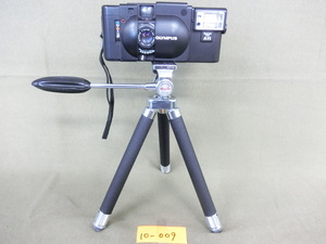*10-009* camera Olympus XA 35mm compact film camera operation unknown three with legs tripod. total length approximately 29cm [ secondhand goods ]