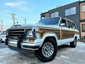 ■グランドワゴニア 人気のホワイト 5900㏄ 4WD エアコン 修復歴なし■ウッドパネル綺麗です 1991年 ジープ 完全売り切り