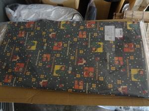 かわいいクリスマス柄のラッピンペーパー、5枚セット、包装紙、グリーン