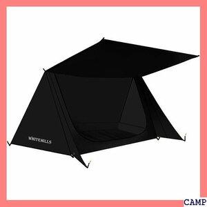 【新品/送料無料】 テント 黒い 釣り ハイキング 超軽量◆ 防災 防水 防雨 ツーリン ソロテント パップテント 2人用 37