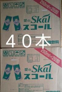 「値下げ中!」愛のスコール 250ml缶を40本です。(20本入り2箱)賞味期限22年8月4日。スコール美味しいよ(^_^)v