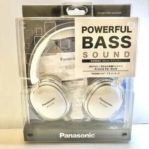 【未使用品】Panasonic RP-HX350 ステレオヘッドホン ホワイト パナソニック ヘッドフォン 1.2mコード 美品 イヤホン/音楽/趣味 CE0
