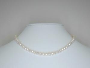 本真珠ネックレス(湖水)5.5~6.0mm(小粒)K18引き輪☆高級☆新品